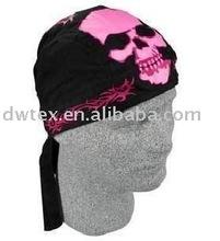 Printed skull fashion womens pirate bandanna hat