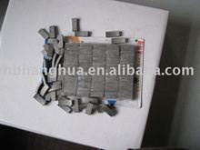 Segments of diamond core drill bits for cutting reinforced concrete