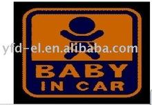 EL car sign el sheet car sticker,warning sign sticker