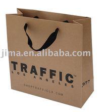 Customer private logo printing shopping paper bag