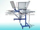 Manual T-shirt printing machine with aluminum pallet