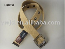 Casual Style Thick Polyester Belt Sport Canvas Belt with Leather Tag Fabric Men Belt