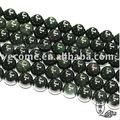 14-18mm roca natural de obsidiana ronda cuentas con verde o púrpura ojos de colores
