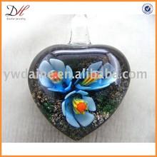 Fashion Glass Necklace, Heart Murano Pendant