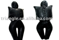 Latex inflatable sleep bag, Latex inflatable catsuit with masks