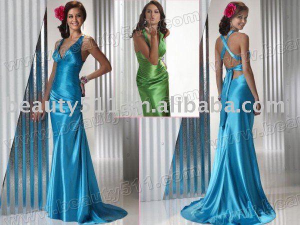 Vestidos De Baño Estilo Halter:Nuevo estilo de la alta calidad halter del vestido de noche con la