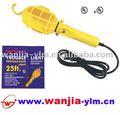 Ul elétrico portátil lâmpada de mão, trabalho da lâmpada, 18 2c awg, 25ft, gaiola de plástico com gancho de pendurar