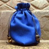 gift bag drawstring bag blue for lady jewelry packing