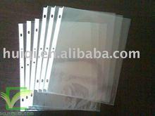 3 holes Clear folder Sheet Protector A4 size pocket