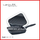 die-cast aluminum non-stick grill pan with two oil spout NL-F1024