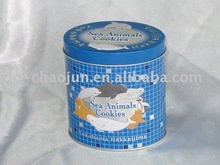 Oval tin box packaging