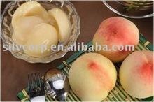 Canned white peach