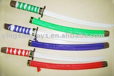 لعبة أطفال بلاستيكية 4 ألوان اليابان سيف النينجا