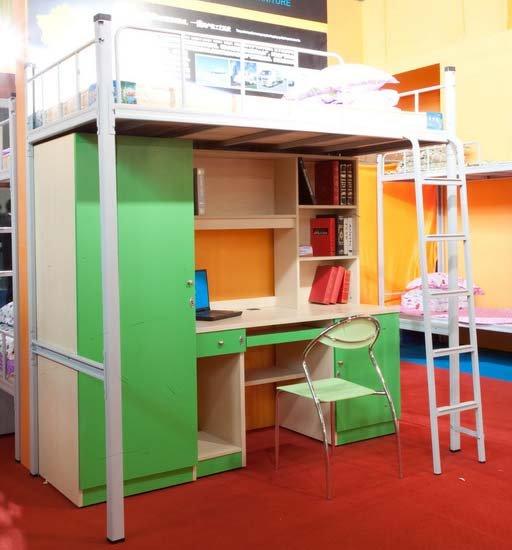 Cama de metal con mesa de estudio hsy11b hsj11wl - Mesas de estudio para ninos ...