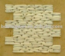 Pebble and cobble for garden paving stone