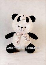New cute plush toy bear in the panda hat