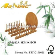 Eco - amichevole piatto di bambù e portatarga