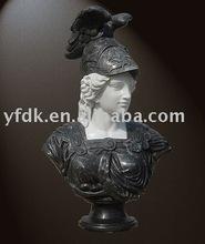 cast black stone famous female bust sculpture