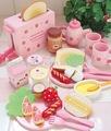 2014ใหม่และเป็นที่นิยมสีชมพูของเล่นไม้ห้องครัว( กับการปรุงอาหารชุด) สำหรับเด็กเล่นแกล้ง