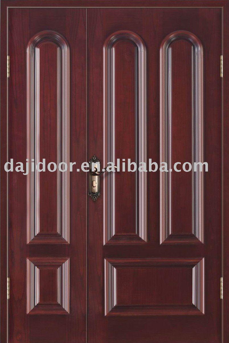 De entrada de lujo de la puerta de caoba DJ-S8413M