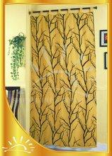 Voile background flocking joint taffeta window curtain
