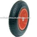 Por Carretilla plástica Lamer neumático de goma de la rueda (4.00-8)