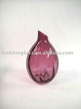 XD2148 purple color glass vase, Glass Vase, Glassware