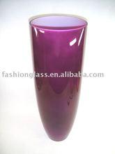 XD2586 purple color glass vase, Glass Vase, Glassware