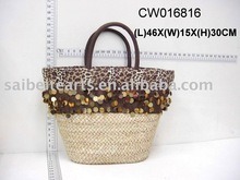 wholesale tote bag shopping bag straw plaited handbag fashion bag
