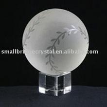 Tennis ball crystal ball for sports