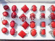 Charming Natural Turquoise gemstone rings fashion rings