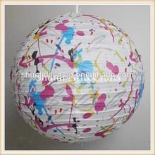 Moda lâmpada de papel em casa e jardim para decoração de natal