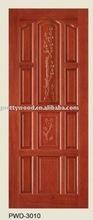 Thai oak solid wood door/Luxury carving single door design