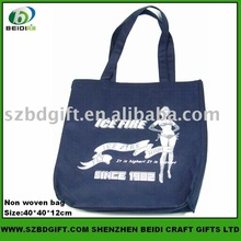 Custom logo printed nonwoven promotion shopping bag