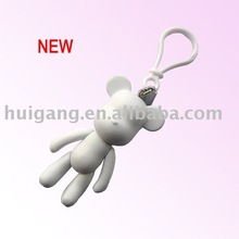 products promotional Popobe bear plaint white key chain