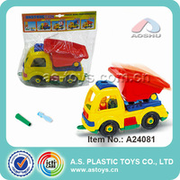 Plastic mini truck assemble toy