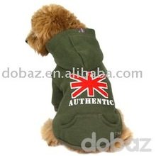 England flag puppy hoodie, dog clothing, pet product