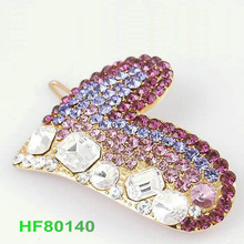 barrette types Rabbit shape clear rhinestone Hair Accessories types of pin barrette HF80140