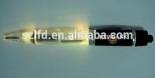 LED Light up Pen,promotional flashlight ballpen torch,custom design logo flashing pen