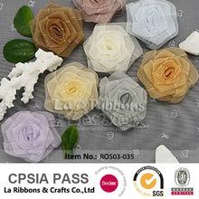 Hand Made Colorful Silk Ribbon Roses
