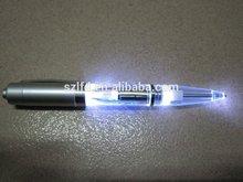 Yes Novelty and Plastic Material christmas led light pen/plastic Glow led pen