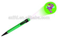 Plastic LED projector pen/custom design image projector pen,hot ballpen light