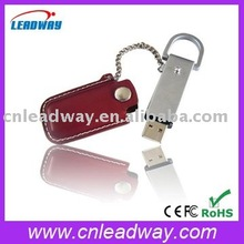 Best cooperate gift 4gb 8gb customized leather metal with keyring emboss logo