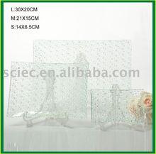 Dinnerware rectangle Glass Plate