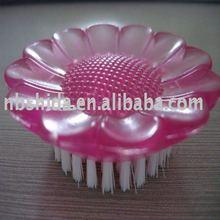 plastic beautiful flower shaped nail brush