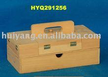 china supplier wholesale natural wooden accordion sewing box