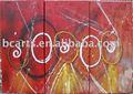 جدار الفن قماش اللوحة 3، اليدوية وحة زيتية تجريدية، الديكورات المنزلية