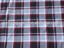 check pattern print polar fleece fabric