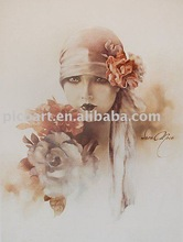 african beautiful girl oil painting