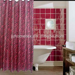 print waterproof shower curtain